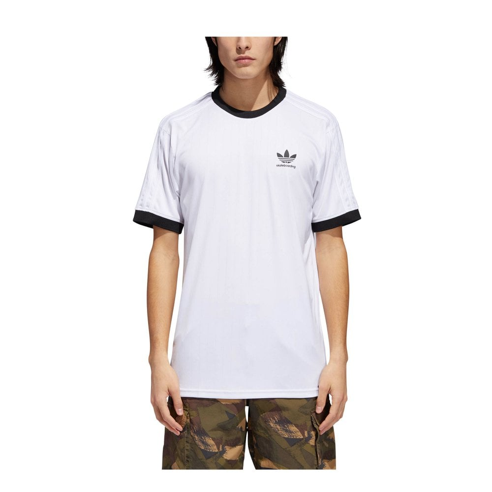 40511544d Adidas Clima Club Jersey T-Shirt - White/Black | Men's T-shirts ...