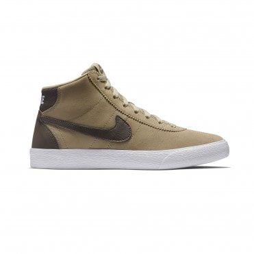 best authentic c268d a7c61 Nike SB Bruin Hi Womens Shoe - Khaki Ridgerock-White