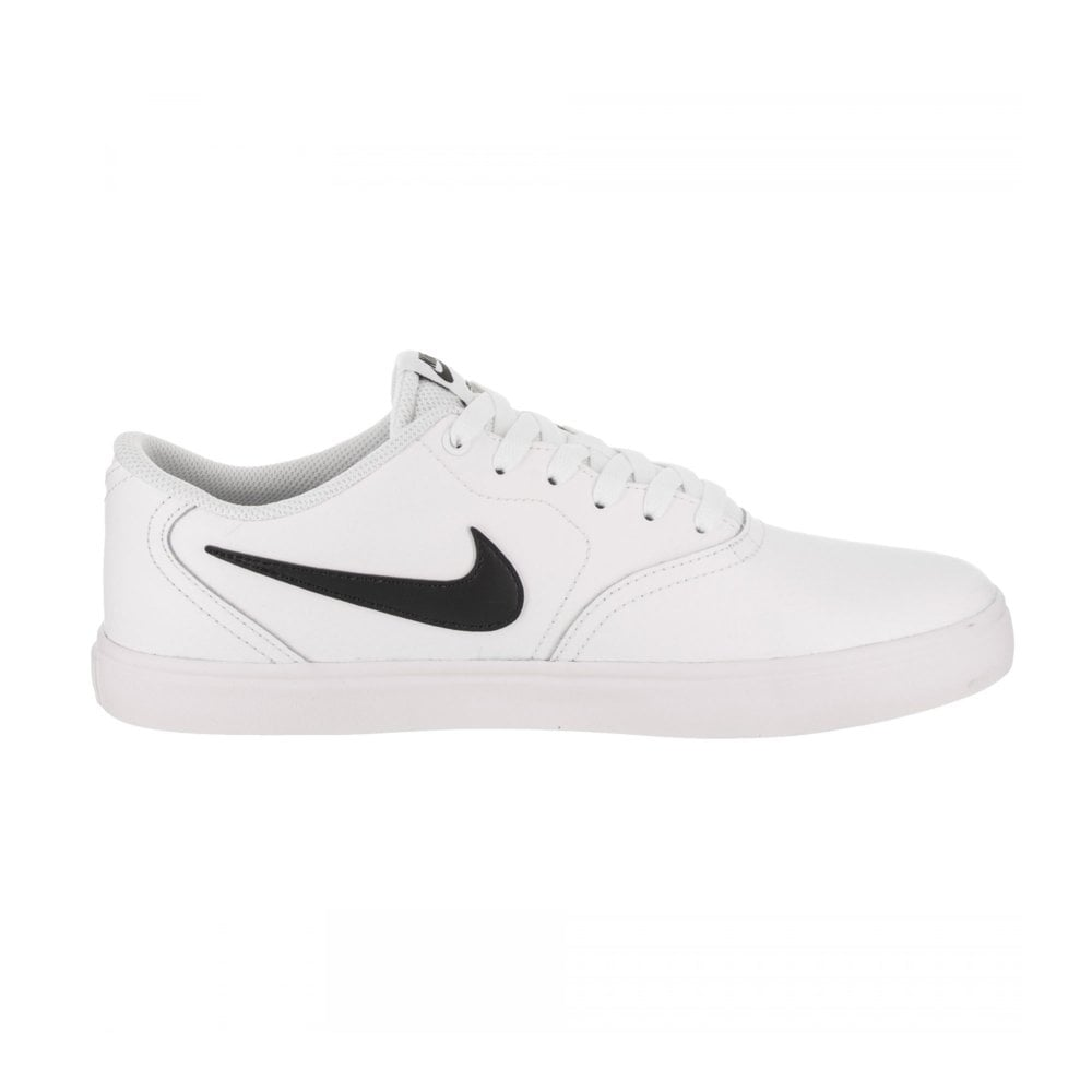 the latest f563a 76ce9 Nike SB Check Solar (Leather) Shoe - White Black