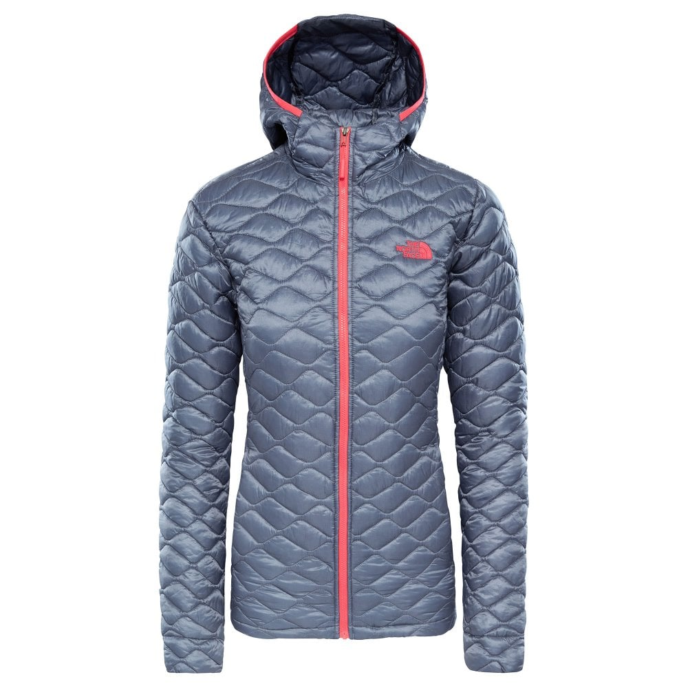 The North Face Womens Thermoball Hoodie Jacket Grisaille Grey