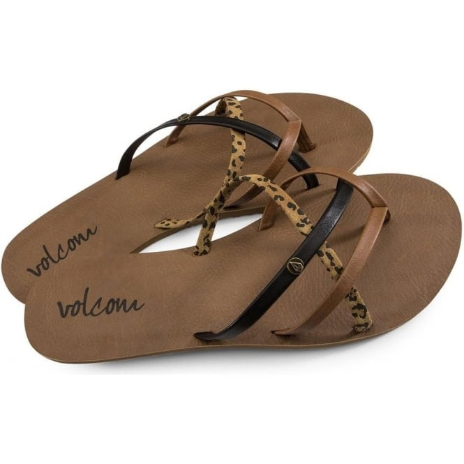 Volcom  New School Women's Sandal - Cheetah