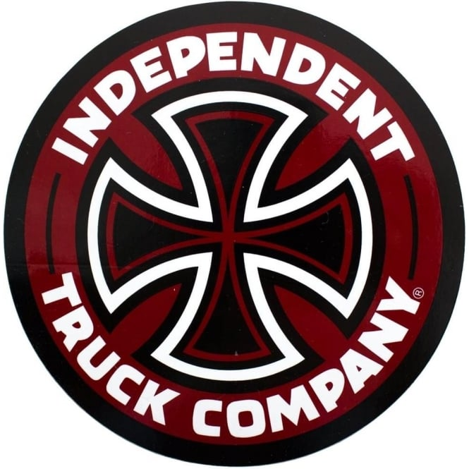 Independent Trucks Independent Truck Co Cross Stickers - Burgundy