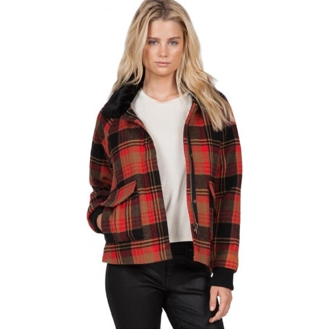 Volcom  Chikity Check It Women's Jacket - Bear Brown