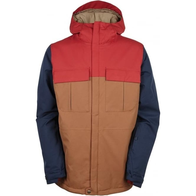 686  Authentic Moniker Insulated Jacket - Red Colourblock