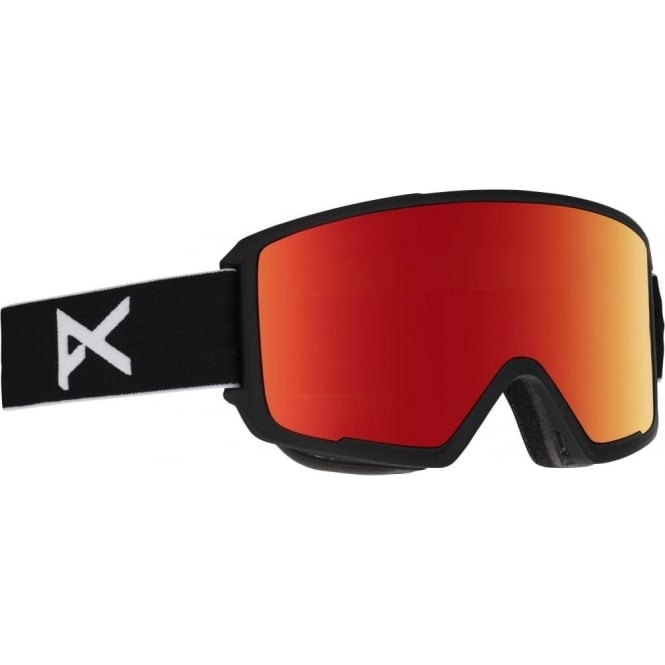 Anon  M3 Goggles 2018 - Black with Red Solex Lens