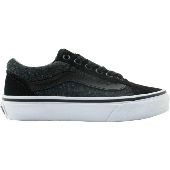 Vans  Old Skool Junior Shoe - (Suede and Suiting) Black