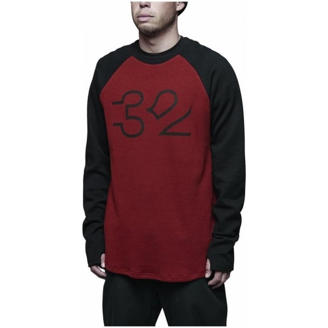 Thirtytwo  Mutiny Thermal Long Sleeve Top - Oxblood