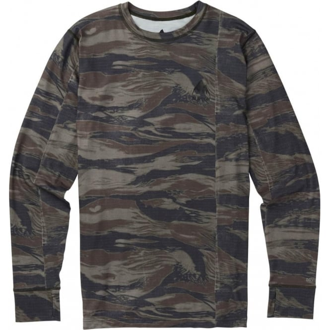 Burton  Midweight Crew Thermal - Olive Green Worn Tiger
