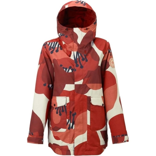 Burton  Cerena Parka Women's Jacket - Canvas Poppyfield