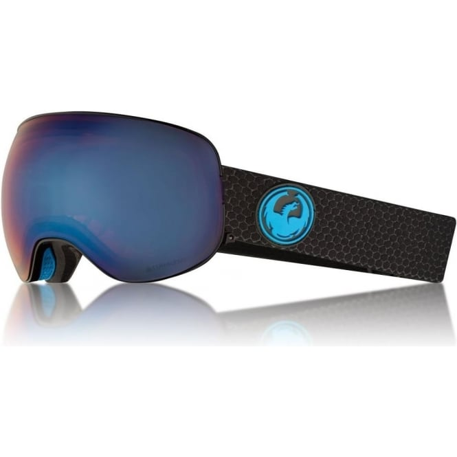 Dragon  X2 Goggle - Split with Lumalens Blue Ion + Lumalens Amber Lens