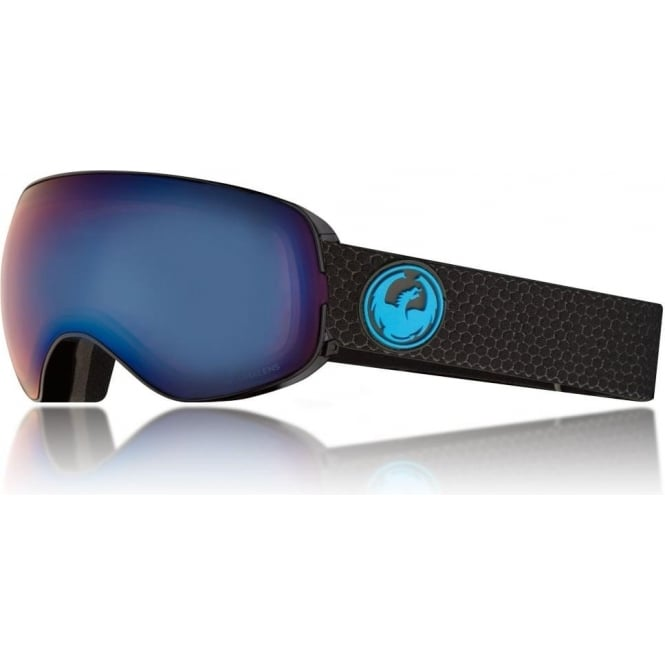 Dragon  X2s Goggle - Split with Lumalens Blue Ionized + Lumalens Amber Lens