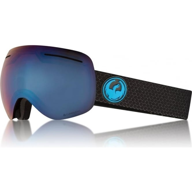 Dragon  X1 Goggle - Split with Lumalens Blue Ionized and Lumalens Amber Lens
