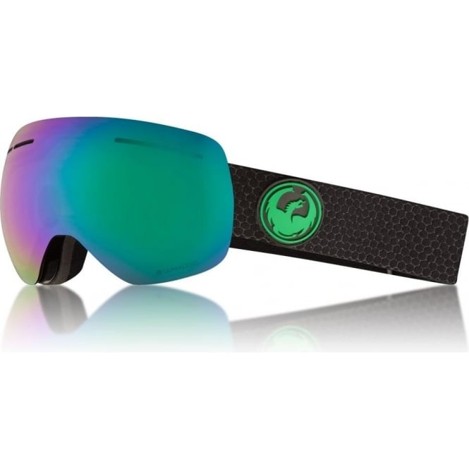 Dragon  X1s Goggle - Split with Lumalens Green Ionized + Lumalens Amber Lens