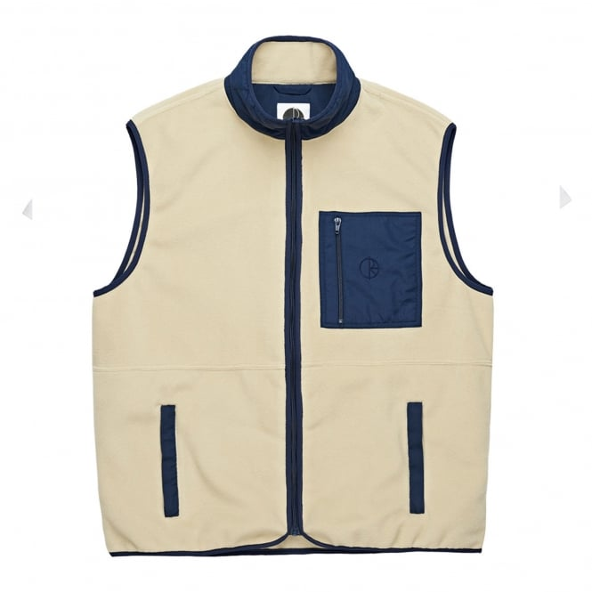 Polar Stenstrom Fleece Vest - Sand/Navy
