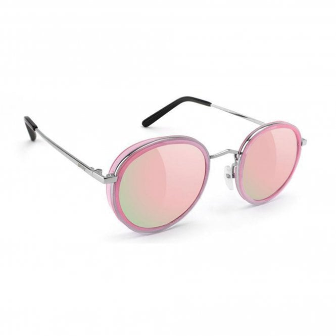 Glassy Sunhaters  Lincoln - Transparent Pink/Pink Mirror