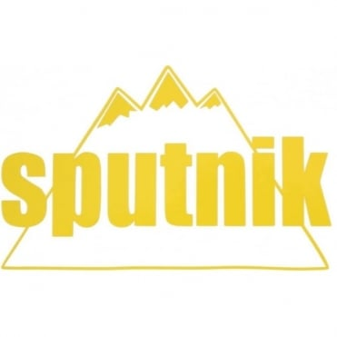 Sputnik Die Cut Vinyl Sticker Large - Yellow