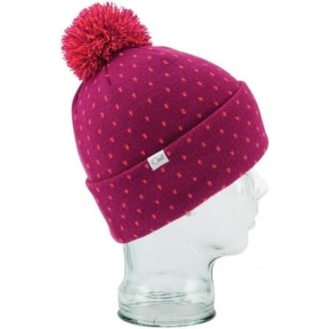 Coal The Dottie Beanie - Fushcia