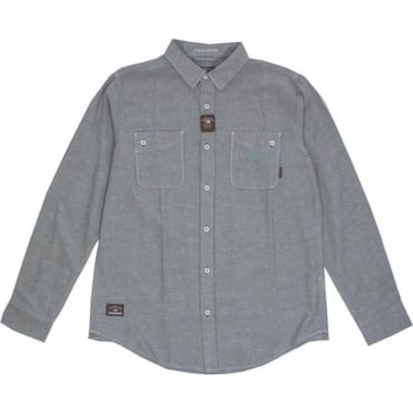 Fourstar Collective Oxford L/S Shirt - Grey