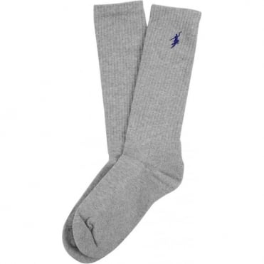 Polar No Comply Sport Sock - Sport Grey/Black