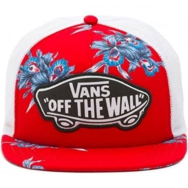Vans Beach Girl Trucker Cap - Tomato Hawaiian