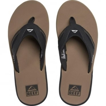 Reef Fanning Sandals - Black/Tobacco