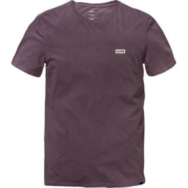 Globe Sticker Tee T-Shirt - Currant