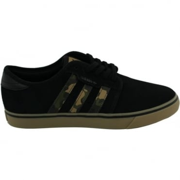 Adidas Seeley Shoe - Core Black/Cardboard/Gum