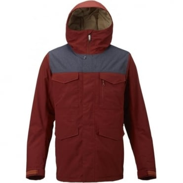 Burton Covert Snowboard Jacket - Fired Brick Red/Denim