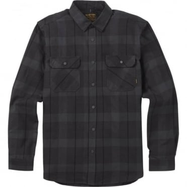 Burton Brighton Tech Flannel Shirt - True Black/Boxelder Plaid