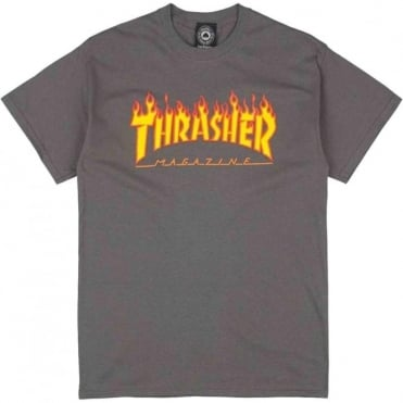 Thrasher Skate Mag T-Shirt - Charcoal