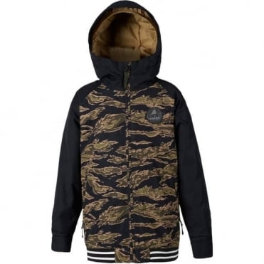 Burton Boys Game Day Jacket - Olive Branch Beast/True Black