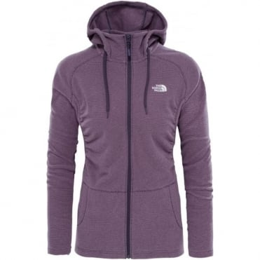 The North Face Mezzaluna Full Zip Fleece - Dark Eggplant