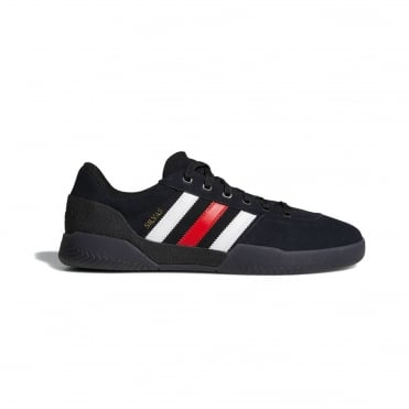 Adidas City Cup Shoe - Black/Scarlet/White
