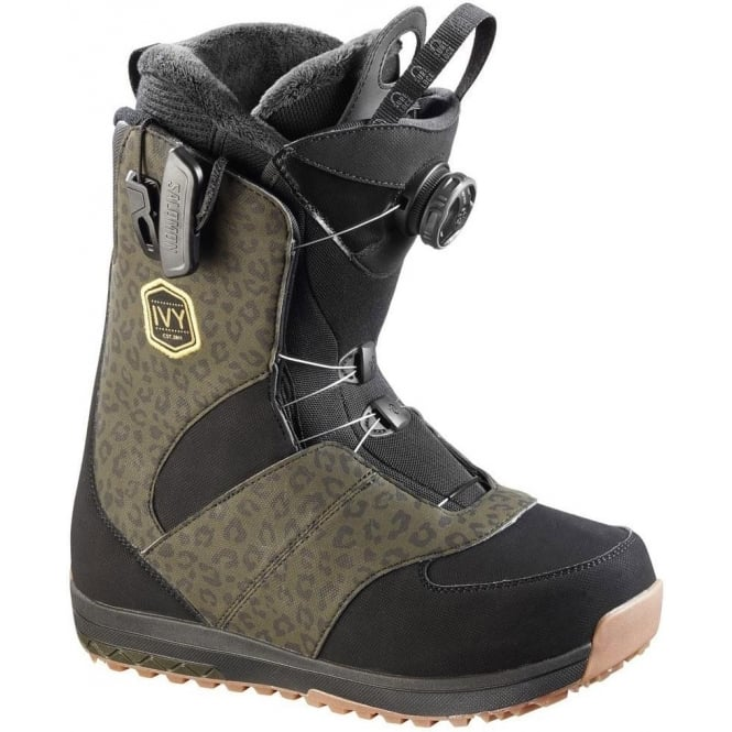 a7d4592f93b0 Buy Salomon Ivy Boa SJ Women s Snowboard Boot 2017 - Black Leopard ...